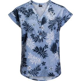 Jack Wolfskin Victoria Leaf T-Shirt Women blue